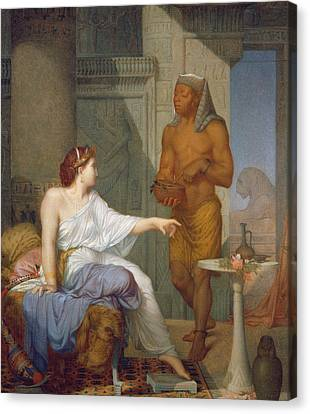 Cleopatra And Her Slave  Canvas Print by Henri Blaise Francois Dejussieu