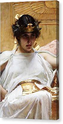Cleopatra Canvas Print by John William Waterhouse