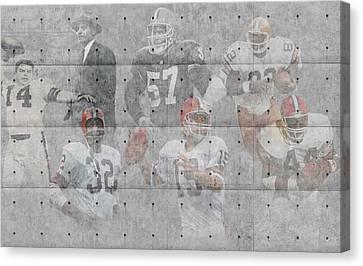 Cleveland Browns Legends Canvas Print by Joe Hamilton