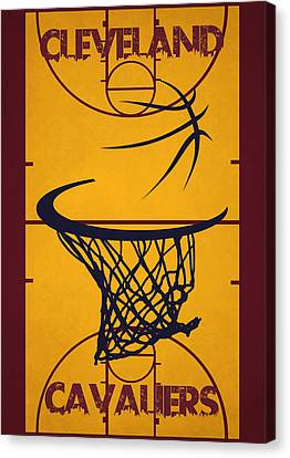 Cleveland Cavaliers Court Canvas Print by Joe Hamilton