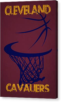 Cleveland Cavaliers Hoop Canvas Print by Joe Hamilton