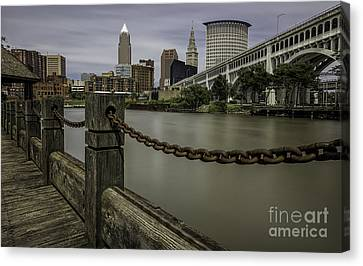 Cleveland Ohio Canvas Print by James Dean