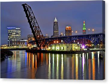 Cleveland Rainbow Canvas Print by Frozen in Time Fine Art Photography