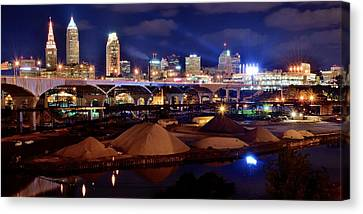 Clevelands Industrial Side Canvas Print by Frozen in Time Fine Art Photography