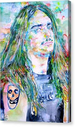 Cliff Burton Portrait.1 Canvas Print by Fabrizio Cassetta