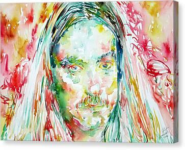Cliff Burton Portrait.2 Canvas Print by Fabrizio Cassetta