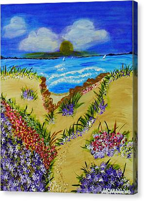 Cliff Notes Canvas Print by Celeste Manning