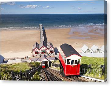 Cliff Railway Saltburn By The Sea Canvas Print by Colin and Linda McKie