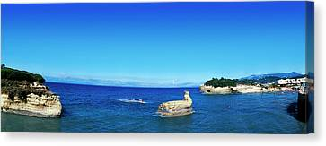Cliffs In Ionian Sea, Corfu, Ionian Canvas Print by Panoramic Images