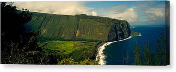 Cliffs In The Sea, Waipio Valley, Big Canvas Print by Panoramic Images