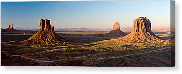 Cliffs On A Landscape, Monument Valley Canvas Print by Panoramic Images