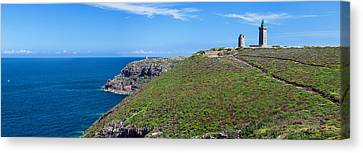 Cliffs With Two Lighthouses Canvas Print by Panoramic Images