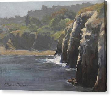 Cliffside Surf La Jolla Canvas Print by Anna Rose Bain