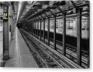 Clinging To A Train Of Thought Canvas Print by Tony Ambrosio