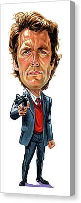 Clint Eastwood As Harry Callahan Canvas Print by Art