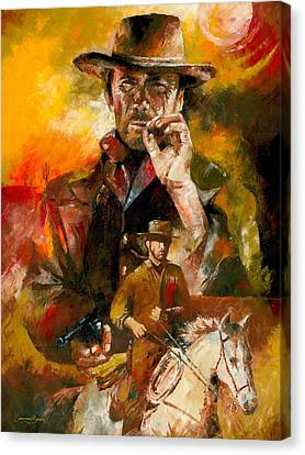 Clint Eastwood Canvas Print by Christiaan Bekker