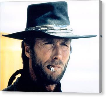 Clint Eastwood In High Plains Drifter  Canvas Print by Silver Screen