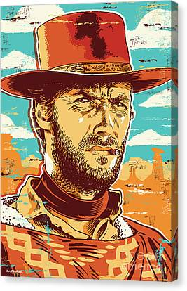 Clint Eastwood Pop Art Canvas Print by Jim Zahniser