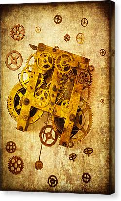 Clock Gears Canvas Print by Garry Gay