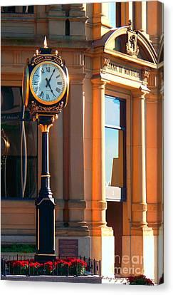 Clock Of New Brunswick Canvas Print by Gena Weiser