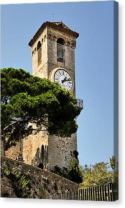 Clock Tower - Cannes - France Canvas Print by Christine Till
