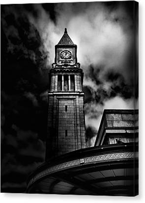 Clock Tower No 10 Scrivener Square Toronto Canada Canvas Print by Brian Carson