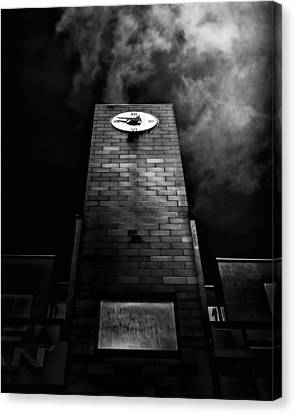Clock Tower No 110 Davenport Rd Toronto Canada Canvas Print by Brian Carson