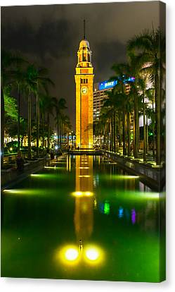 Clock Tower Of Old Kowloon Station Canvas Print by Hisao Mogi