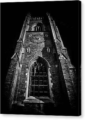 Clock Tower Soldiers Tower University Of Toronto Campus Canvas Print by Brian Carson