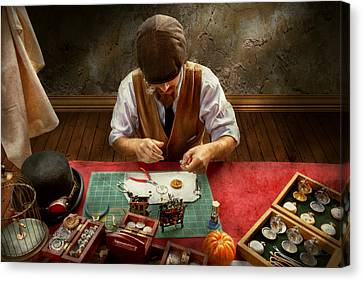 Clockmaker - A Demonstration In Horology Canvas Print by Mike Savad