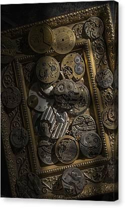 Clockwerx Canvas Print by Ron Schwager