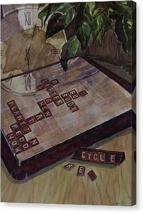 Clockwise Green Canvas Print by Janet Felts
