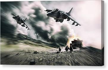 Close Air Support Canvas Print by Peter Chilelli