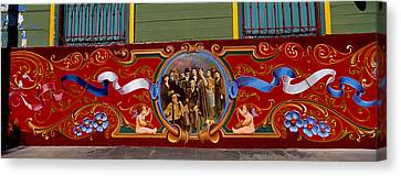 Close-up Of A Painting On A Window, La Canvas Print by Panoramic Images