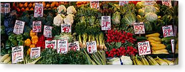 Close-up Of Pike Place Market, Seattle Canvas Print by Panoramic Images