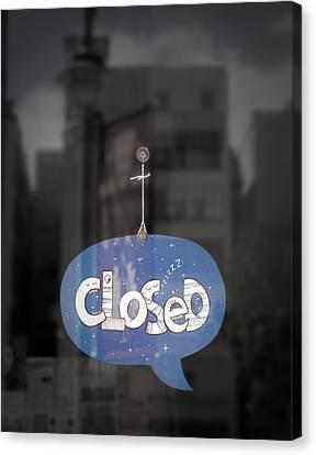 Closed Sleep Tight Canvas Print by Scott Norris