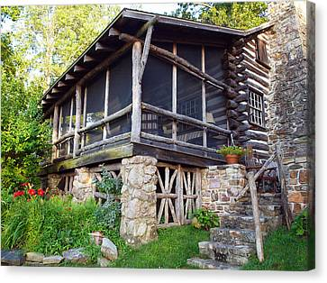 Closer View Of The Cabin Canvas Print by Robert Margetts