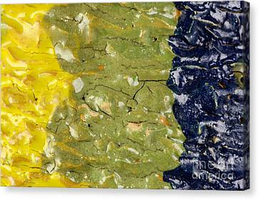 Closeup Of Glazed Ceramics Canvas Print by Kerstin Ivarsson