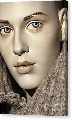 Closeup On Mannequin's Face Canvas Print by Sophie Vigneault
