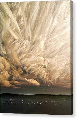 Cloud Chaos Cropped Canvas Print by Matt Molloy