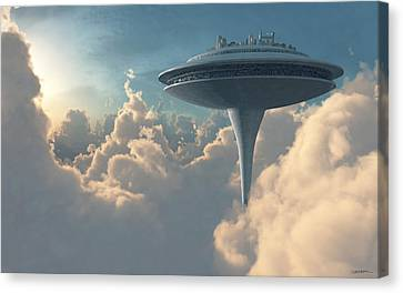 Cloud City Canvas Print by Cynthia Decker