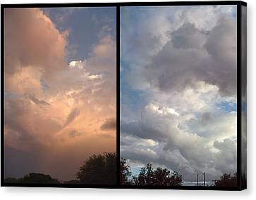 Cloud Diptych Canvas Print by James W Johnson