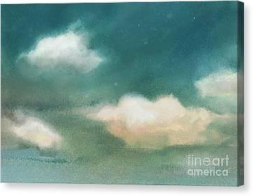 Cloud Diptych Left Canvas Print by Joan A Hamilton
