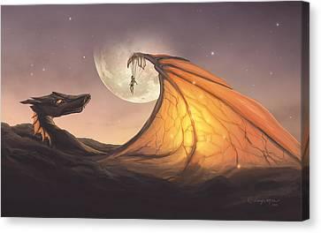 Cloud Dragon Canvas Print by Cassiopeia Art