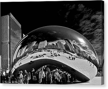 Cloud Gate Chicago - The Bean Canvas Print by Christine Till