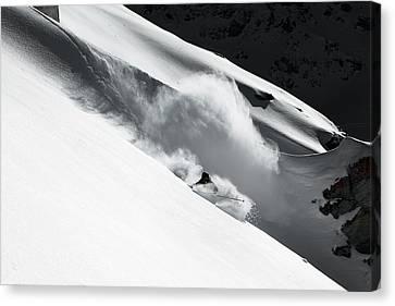 Cloud Of Snow Canvas Print by Jakob Sanne