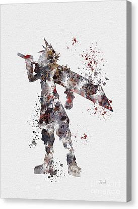 Cloud Strife Canvas Print by Rebecca Jenkins
