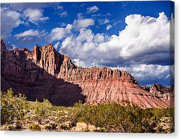 Clouds In Valley Of Fire Canvas Print by  Onyonet  Photo Studios