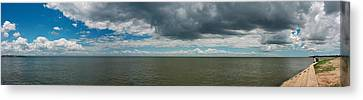 Clouds Over A Lake, Lake Pontchartrain Canvas Print by Panoramic Images