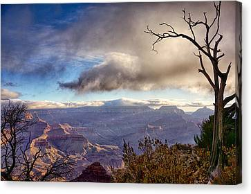 Clouds Over Canyon Canvas Print by Lisa  Spencer